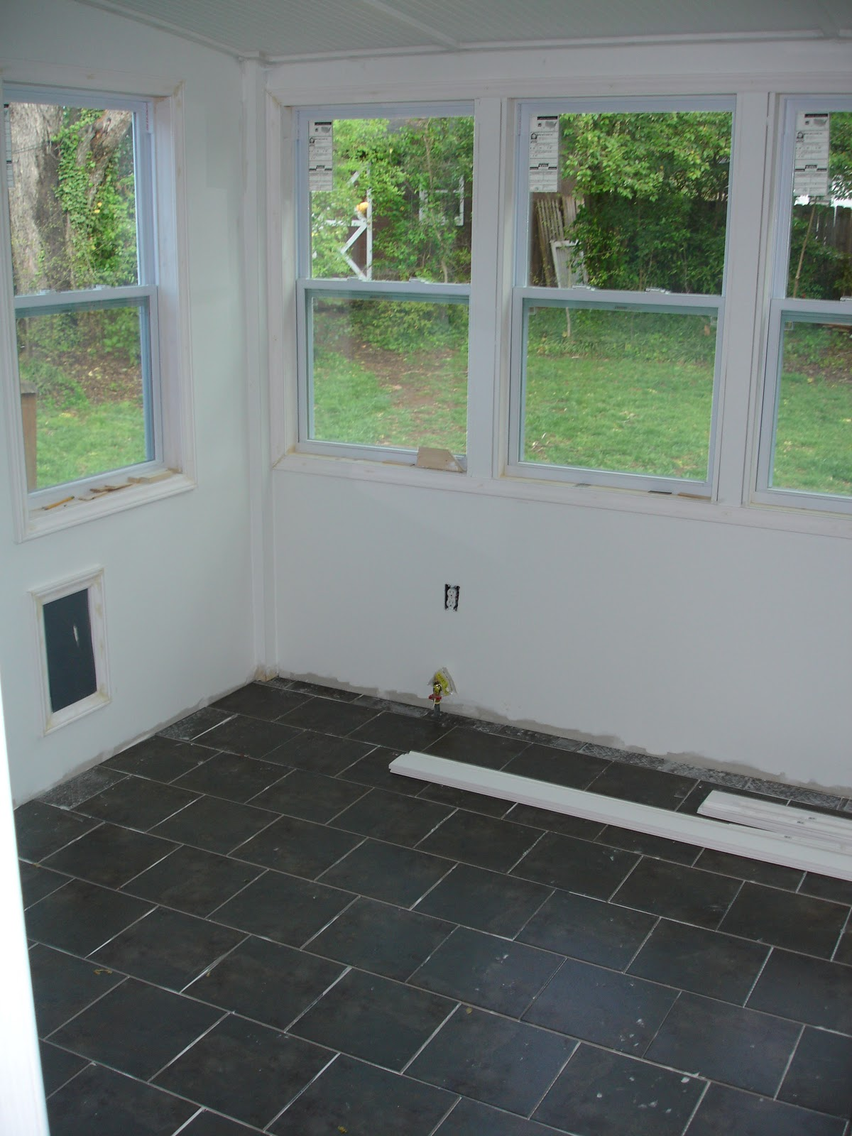 Wedded whittaker sunroom tile check for Solarium flooring