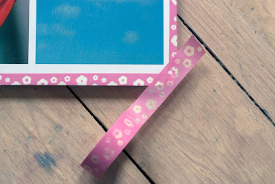 DIY notebook cover, washi tape on corners