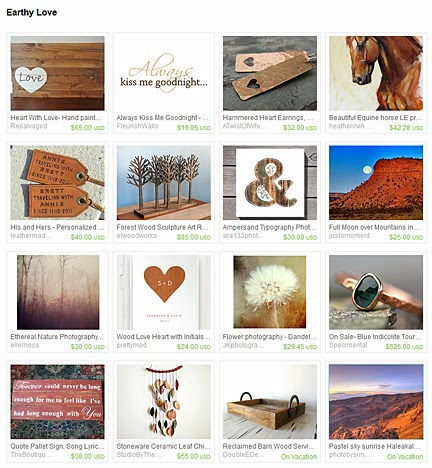 Earthy Love a treasury by Jennifer Kistler on Etsy.com