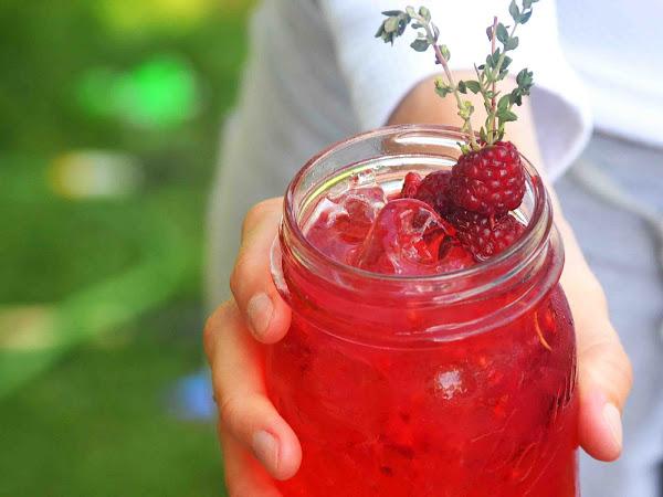 Raspberry Thyme Tom Collins ~Cocktail Week~