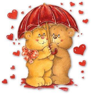 osos enamorados lluvia de corazones