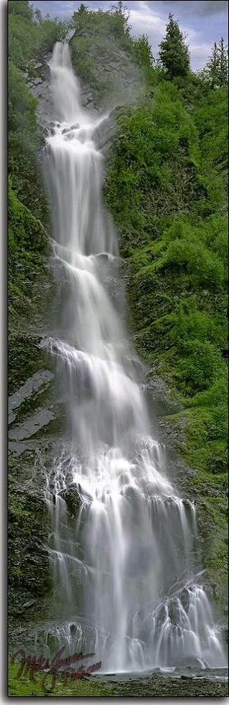 Bridal Veil Falls near Valdez, Alaska.