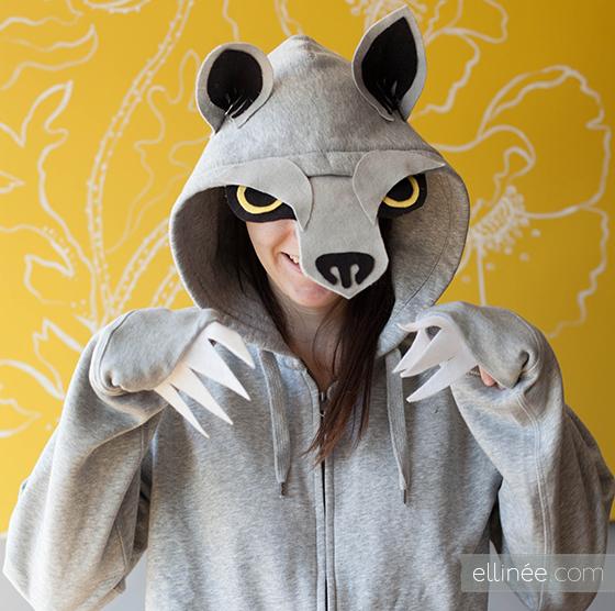 wolf hoodie diy