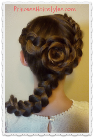 dutch braid rose hairstyle tutorial