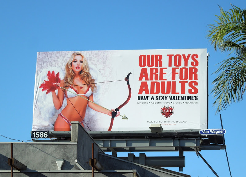 Hustler Adult Toys Valentines Day billboard
