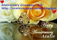 Anniversary Giveaway AzatieSayang.