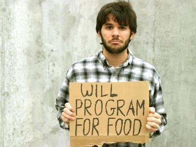 Работа за еду - классический пример внешних (навязанных нам) целей