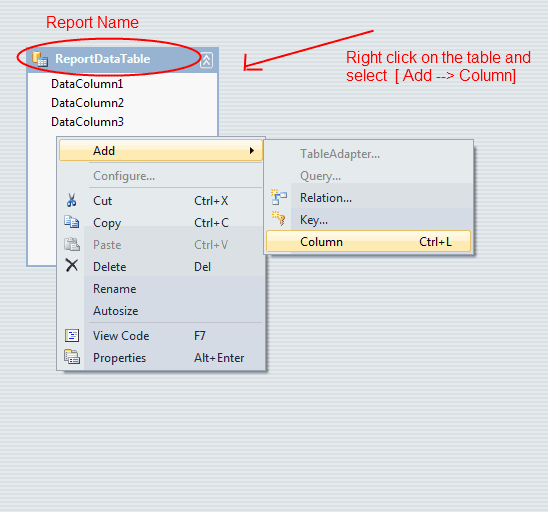how to change dataset in crystal report