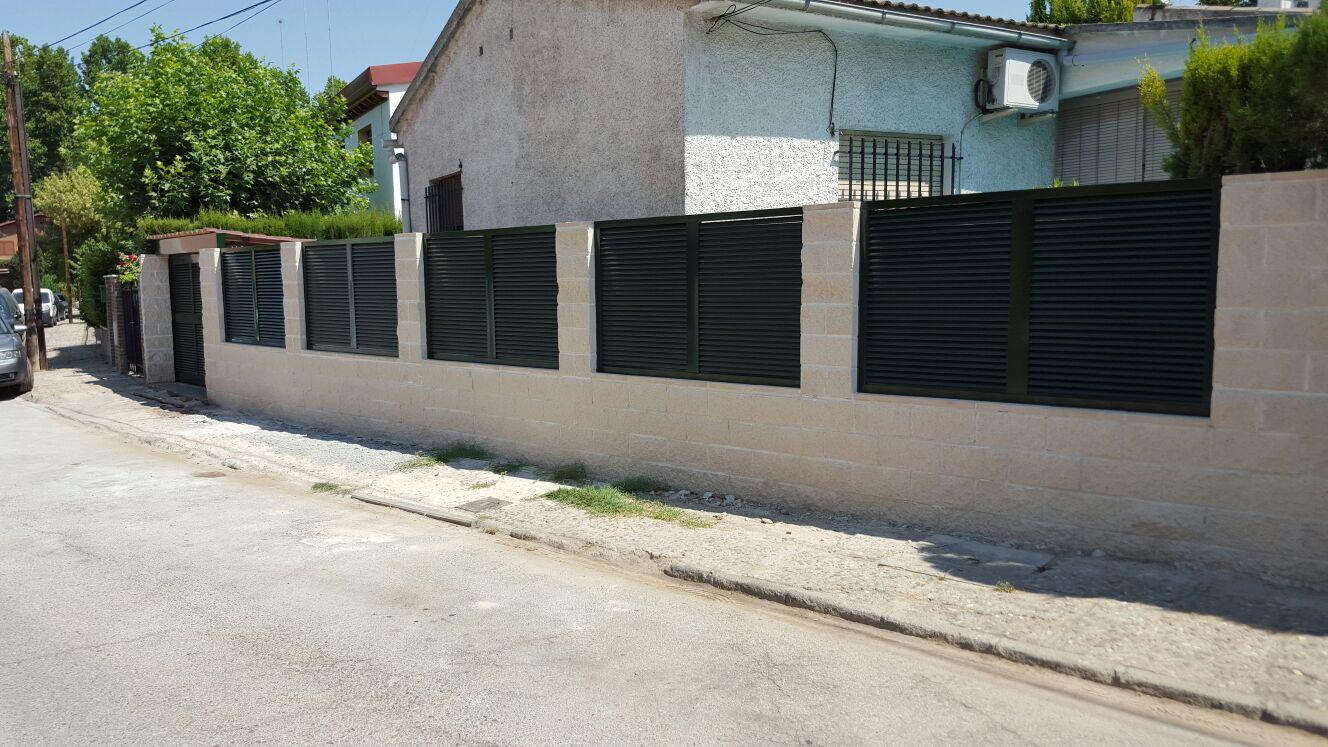 Aluminio y pvc en aranjuez y alrededores alumifrank - Vallas para chalets ...
