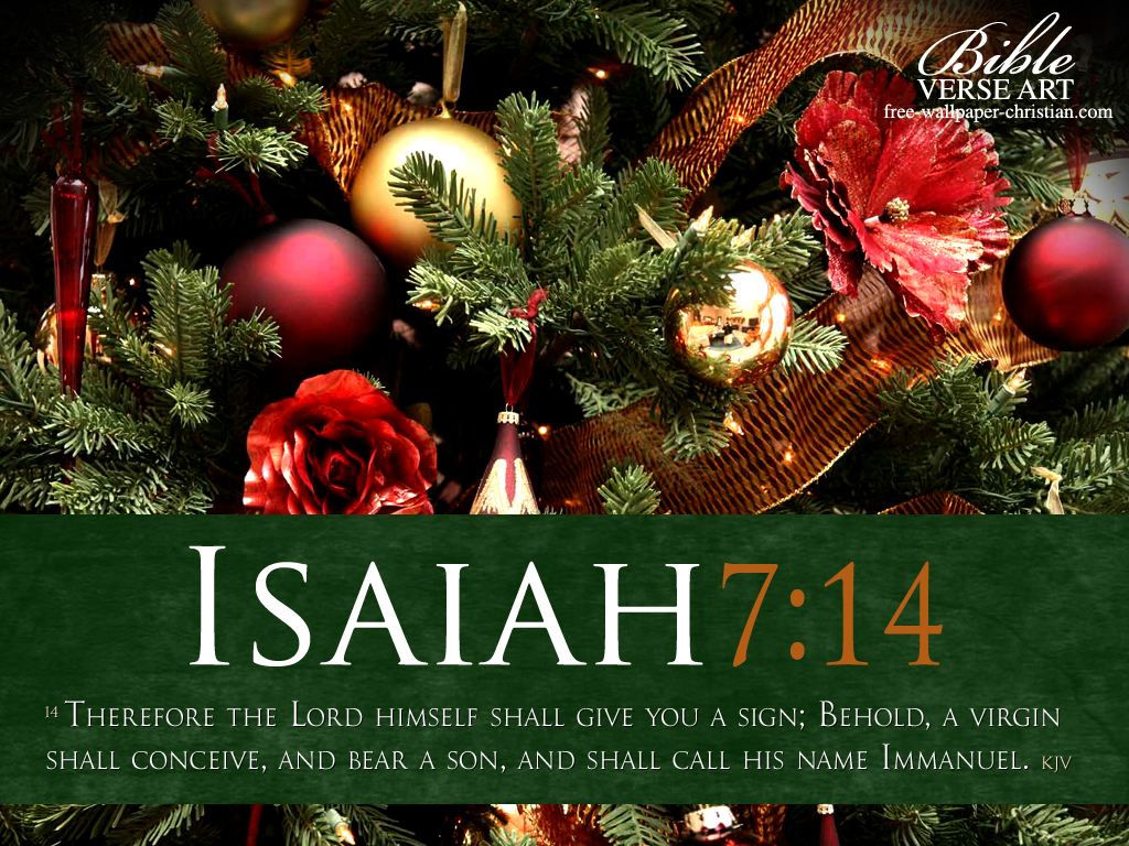 Download Christmas Bible Verse Desktop Wallpapers