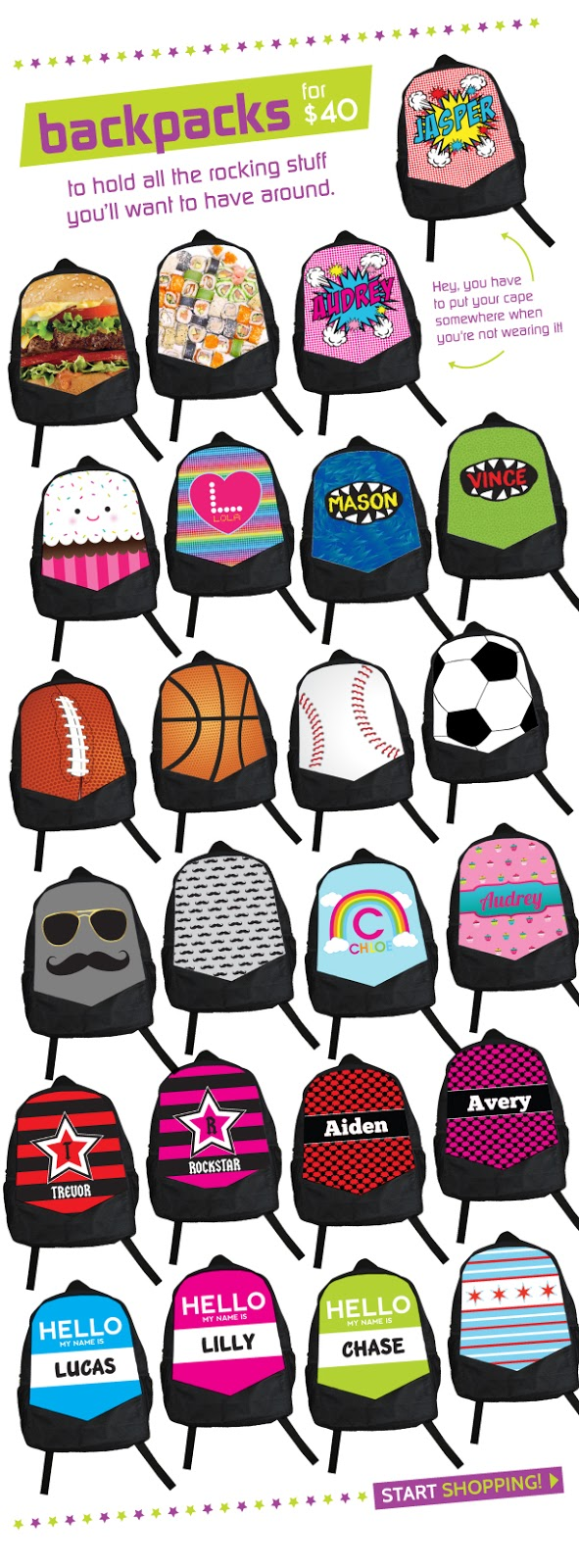 Personalized Kids' Backpacks