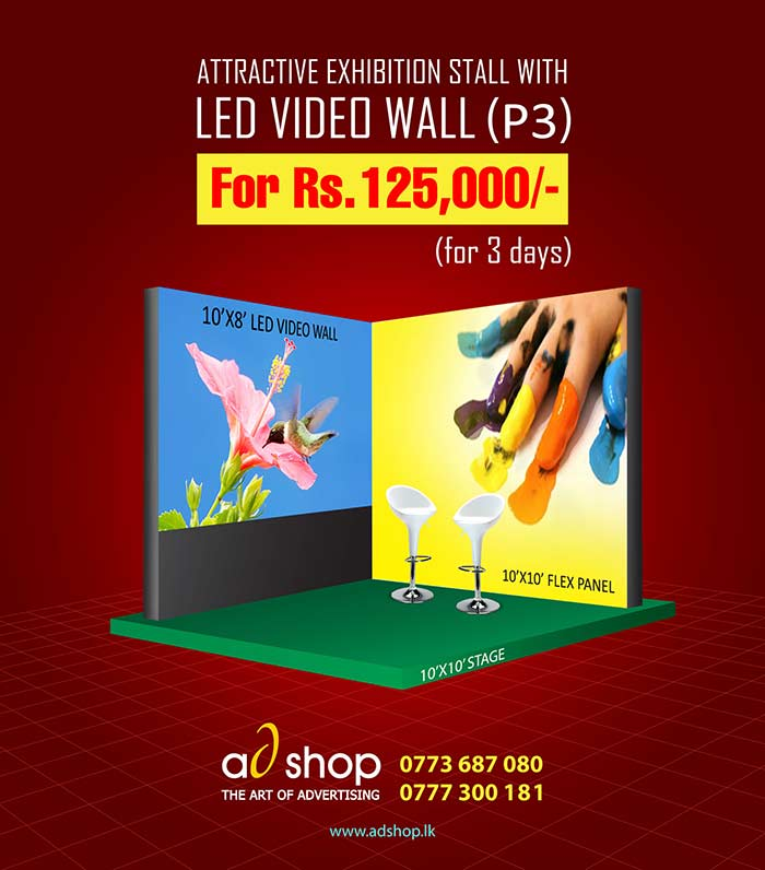Attractive exhibition stall just for Rs. 125,000.
