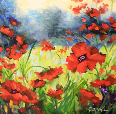 Nancy medina art wild at heart poppy fields painting and my most wild at heart poppy fields painting and my most embarrassing moment by texas flower artist nancy medina mightylinksfo