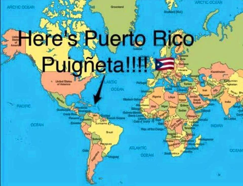 Ahora por fin saben donde está Puerto Rico