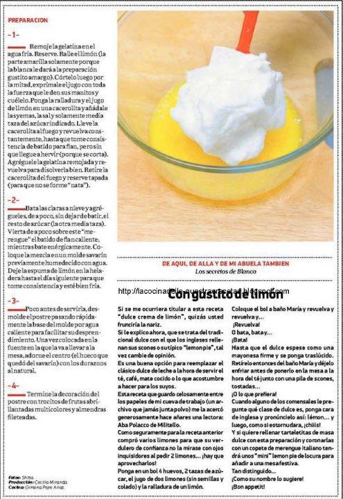 Entre ollas y sartenes espuma de lim n - Espuma de limon ...