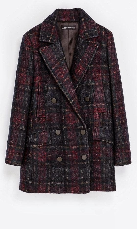 Warm Zara Checked Coat