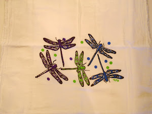 DragonFlies on  Garden Fresh Towel