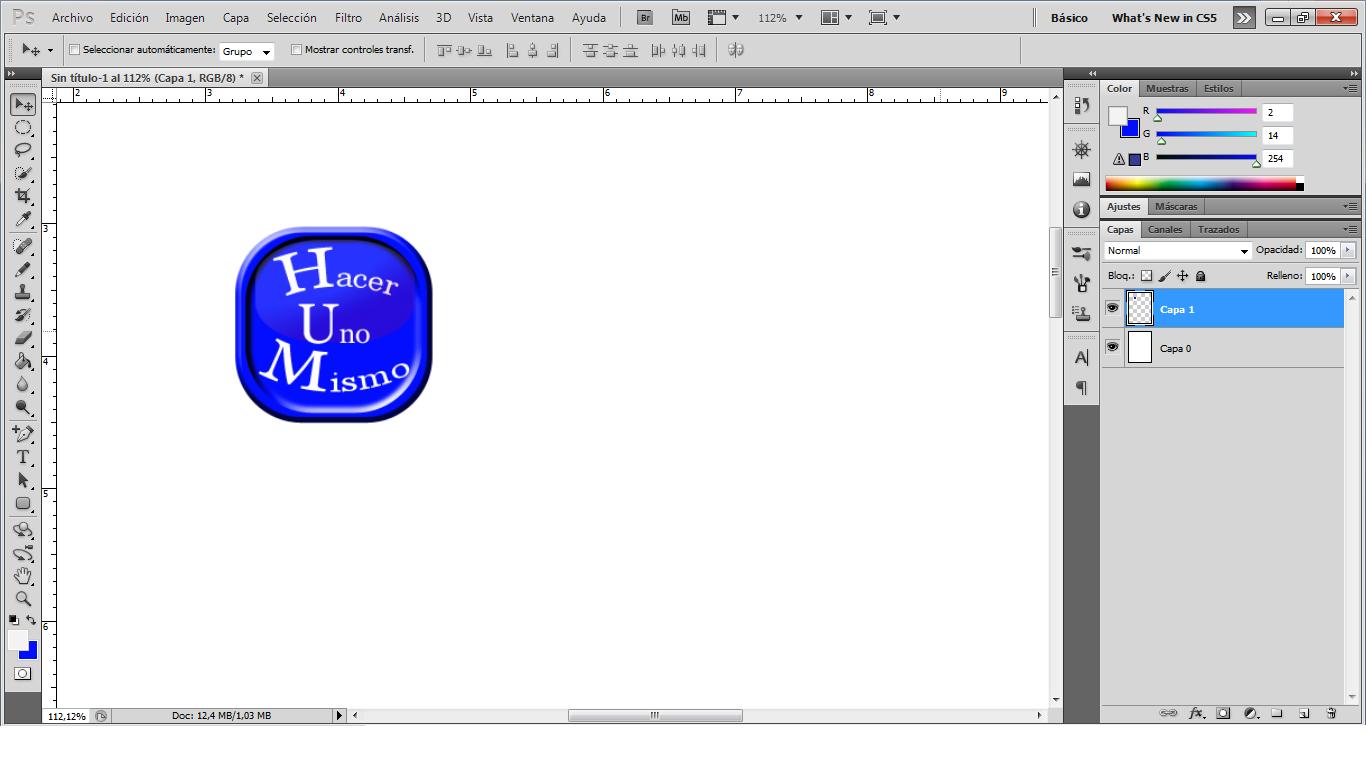 hacer logo con photoshop: