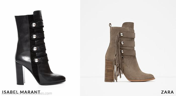 donde encontrar una copia clon inspiracion de botas de Isabel Marant