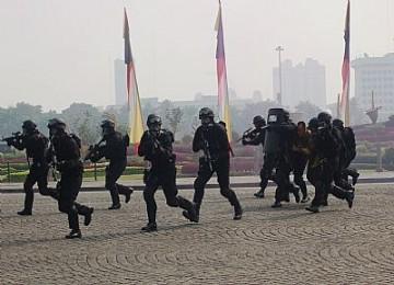 latihan gabungan tni-polri, militer indonesia