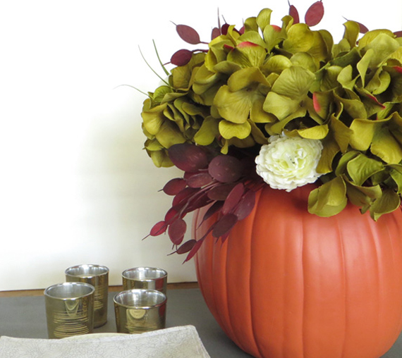 How To Make A Diy Pumpkin Vase Centerpiece Creative Green Living