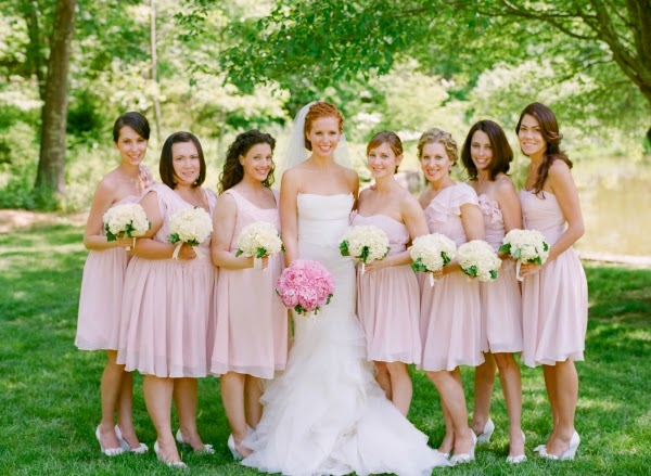 Brides Bridesmaids Fashion Four Kinds Of Color Bridesmaid Dresses
