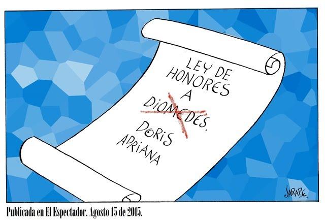 Diomedes. Ley de honores