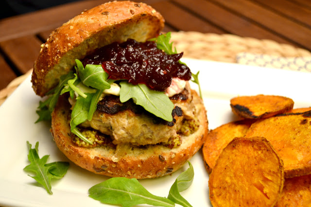 herbed turkey burgers recipe and curry sweet potatoes recipe