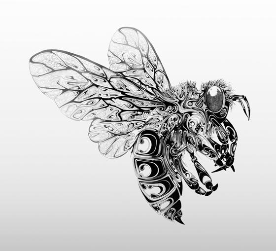 Desenhos em preto e branco de Si Scott - 01