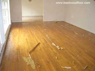 Before - Sanding and refinishing hardwood floor New Jersey NJ