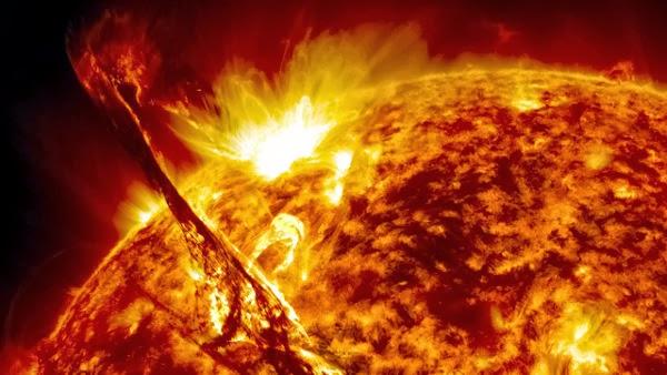 solar flares, gelombang radio cepat