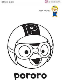 Пингвиненок Пороро. Раскраски
