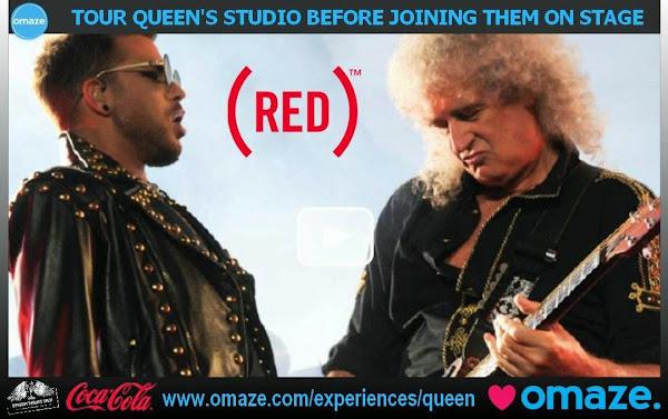 Visita el estudio de Queen antes de unirte a ellos en el escenario , a beneficio de RED