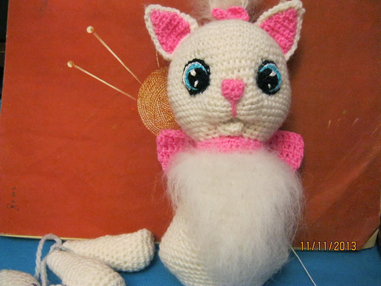 Вязание крючком на кошку 547