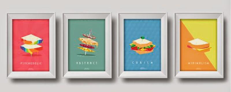 Sandwiches artísticos