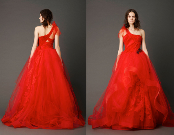 Vera Wang Red Wedding Dresses 2013 Vera Wang Red Wedding Dresses 2013