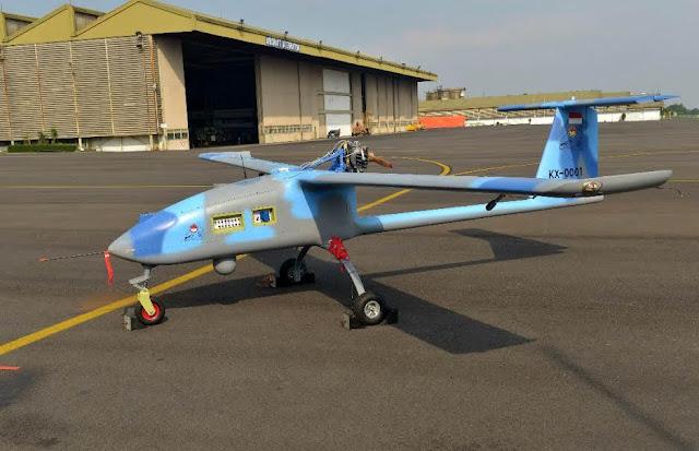 Drone Wulung Buatan PTDI yang Terbang Hingga Radius 120 Km