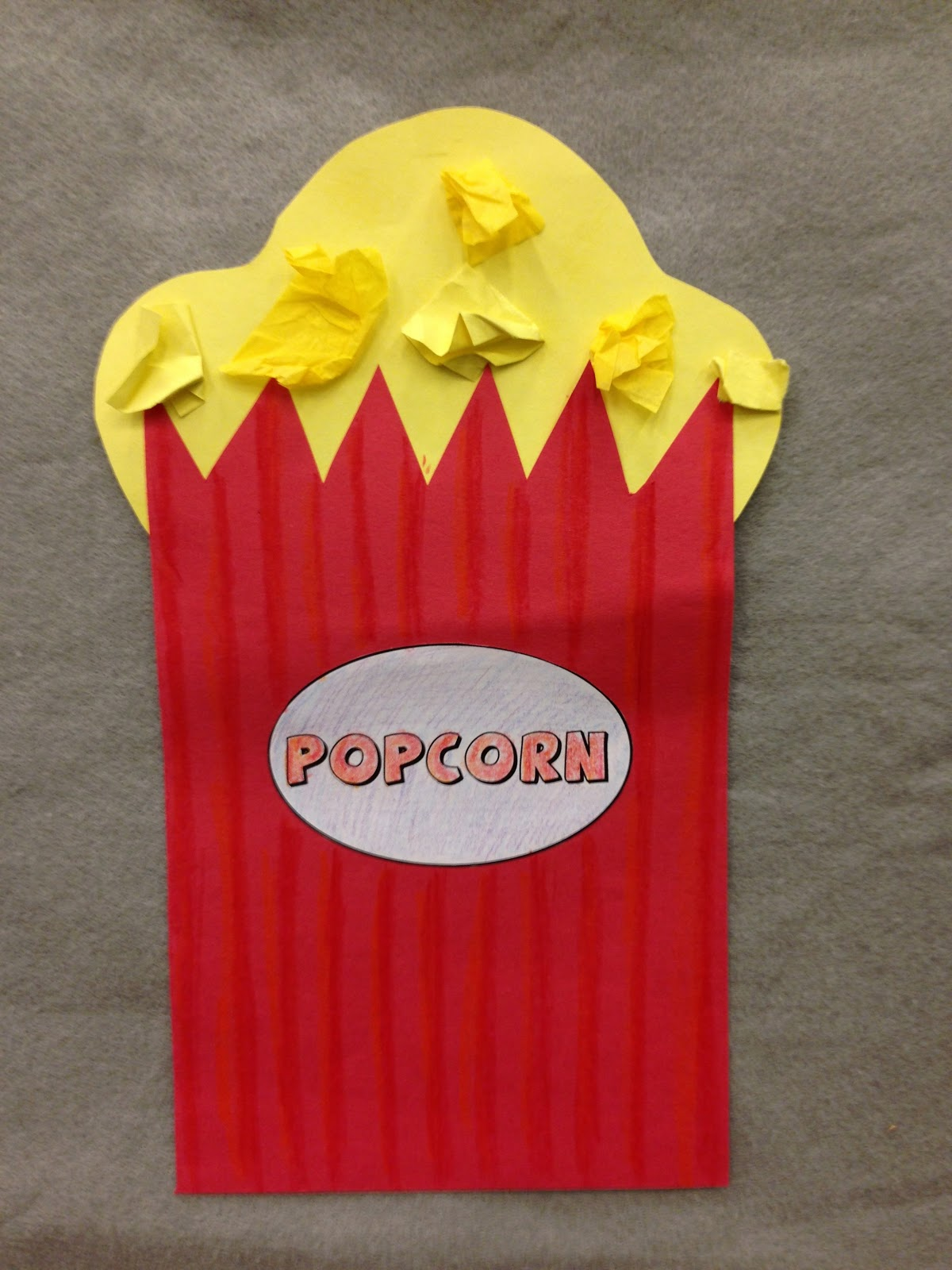 Amazing Hollywood Craft Ideas For Kids Part - 13: Popcorn Craft, Toddler And Preschool Storytime, Created By Dorothy WP-CC,  2013