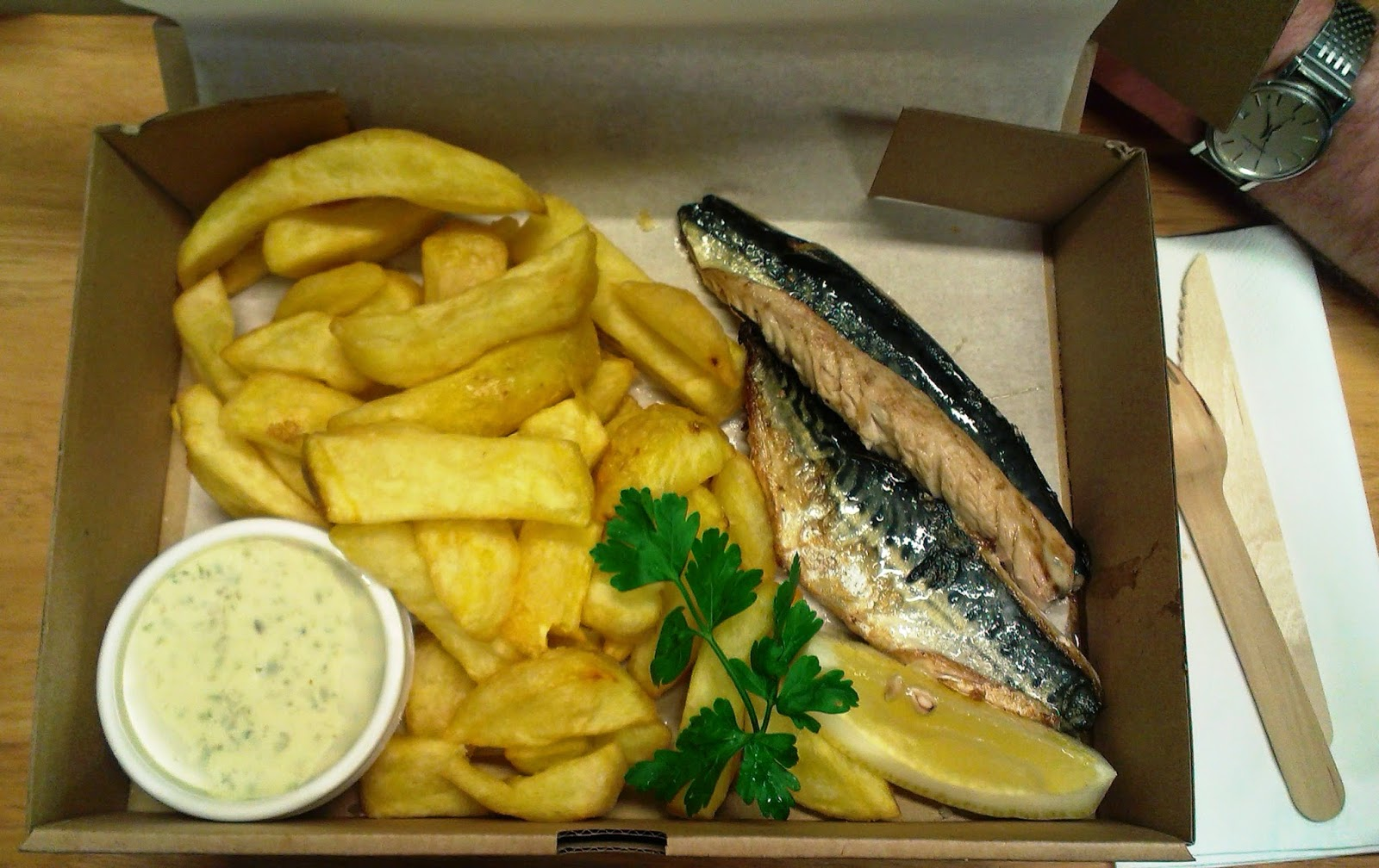 The Scallop Shell Beckington Mackerel and Chips