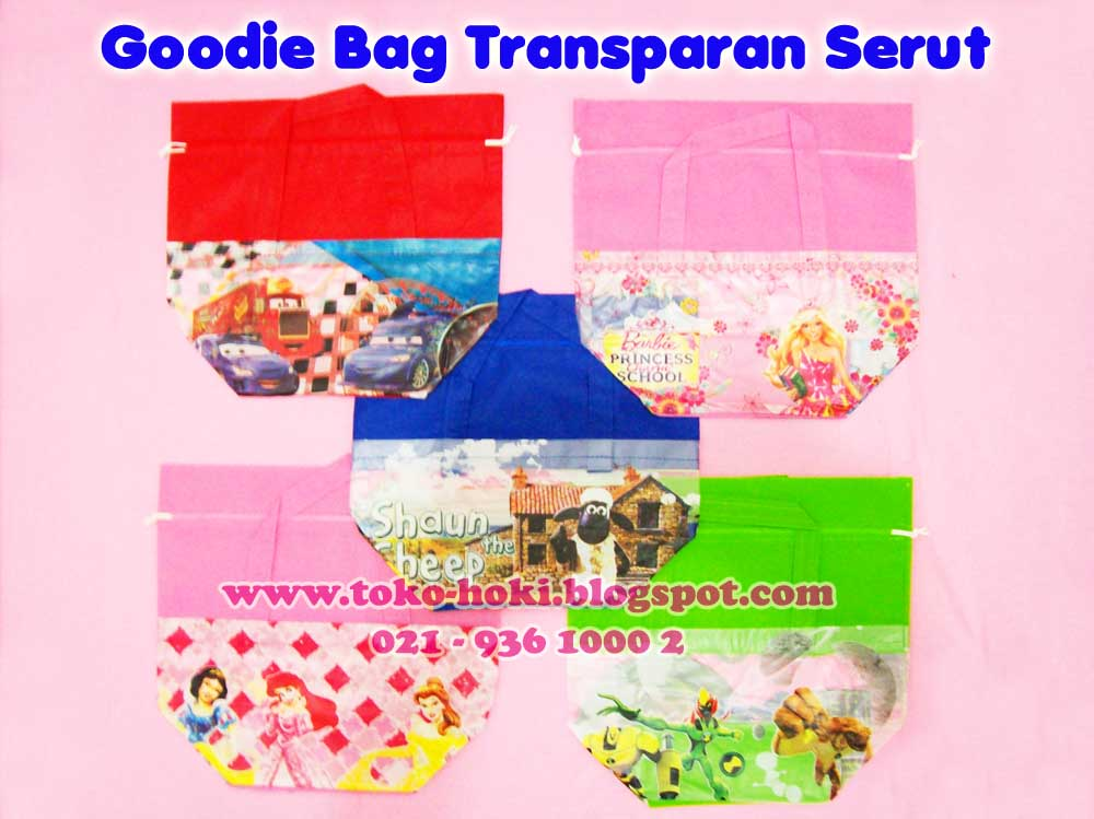 Goodie Bag Transparan Serut