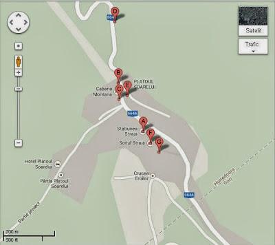 Vila Alpin Straja vazuta din Google Maps