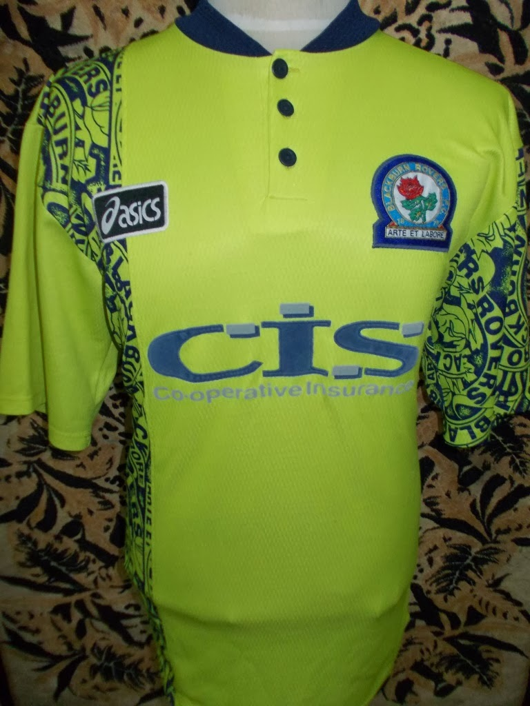 BLACKBURN ROVERS AWAY 96-97 JERSEY-MADE U.K-XL-RM 120