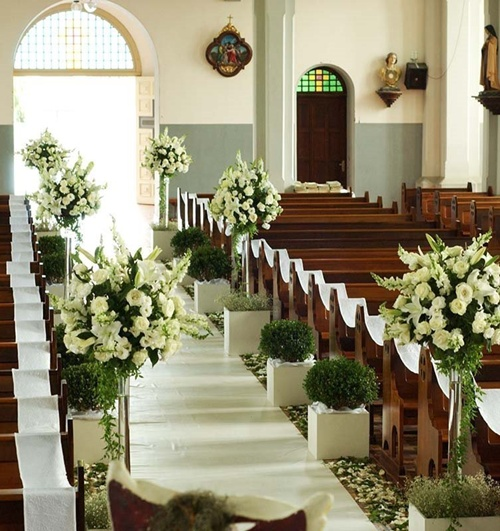 Uniendo un lazo eterno. ||Evento -Boda Gwendal-Alain|| Decoracion-iglesia-boda-matrimonio