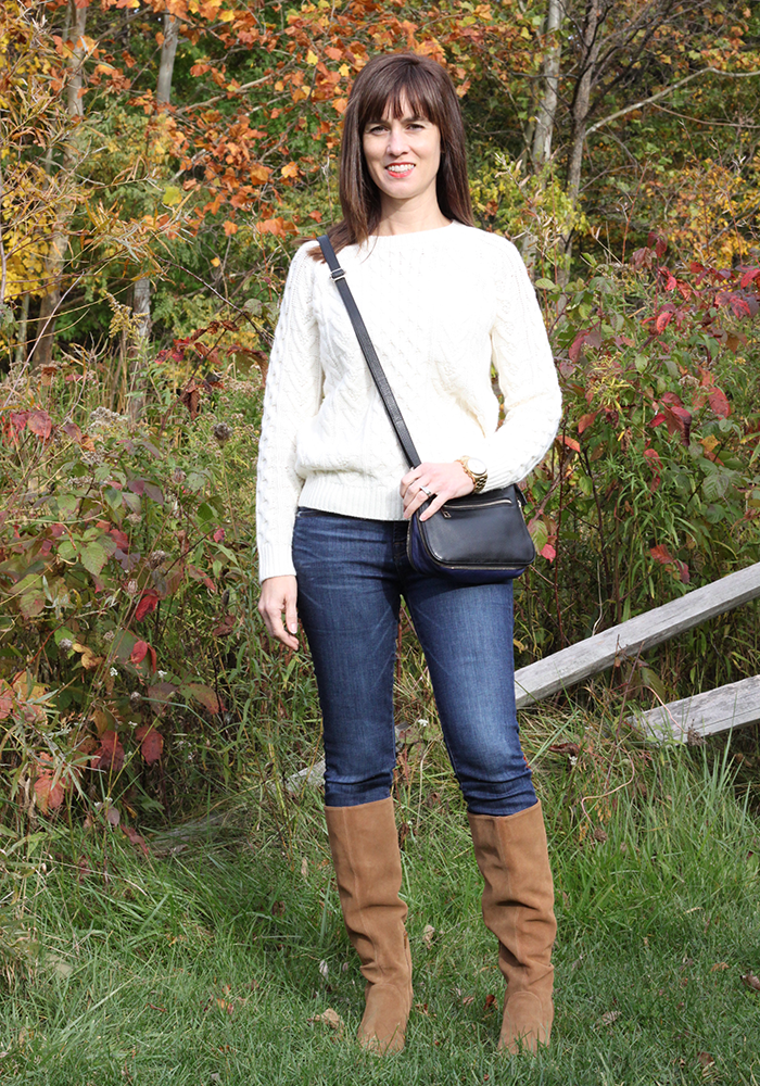 Cable knit sweater, slouchy boots, nordstrom, sole society, what to wear fall