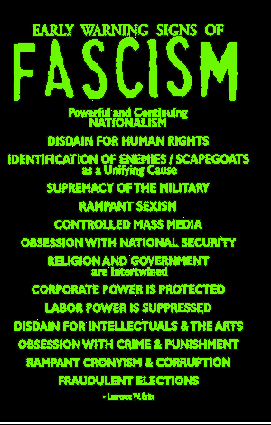 Early Signs Of Fascism >> Early Warning Signs Of Fascism When The News Stops
