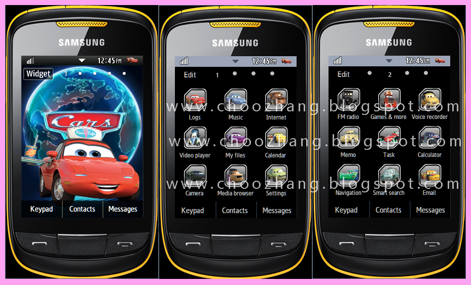Samsung Corby 2 or S3850 - Cars 2 Themes