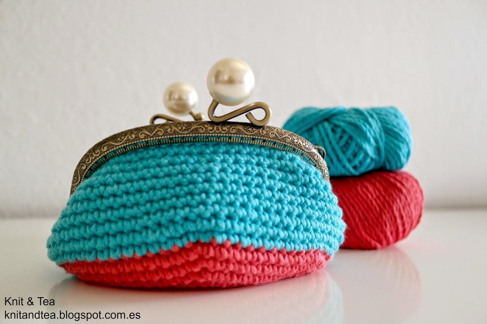 Monedero de crochet con boquilla ovalada aprender for Monedero ganchillo boquilla ovalada