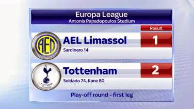 Spurs v AEL - The last chance saloon