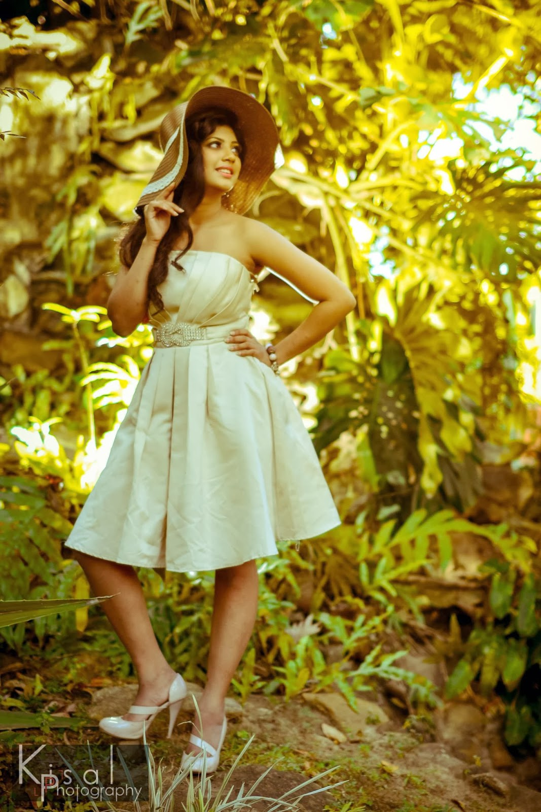 Senali Fonseka white mini dress