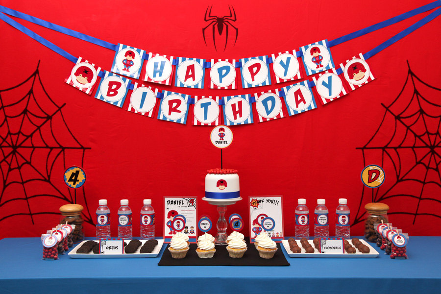 Spiderman Birthday Party Ideas, Spiderman Birthday Party Supplies